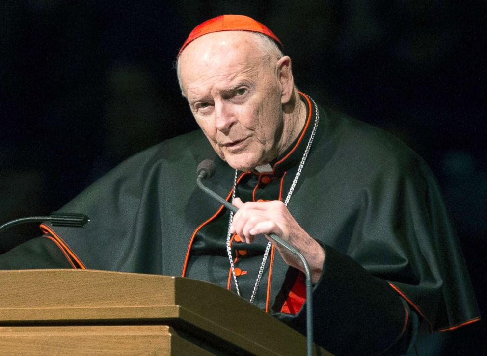 PHOTO: Cardinal Theodore McCarrick speaks during a memorial service in South Bend, Ind., March 4, 2015.