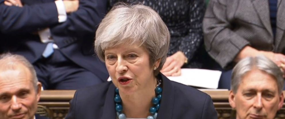 PHOTO: In this grab taken from video, Britains Prime Minister Theresa May makes a statement in the House of Commons, in London, Dec. 10, 2018.
