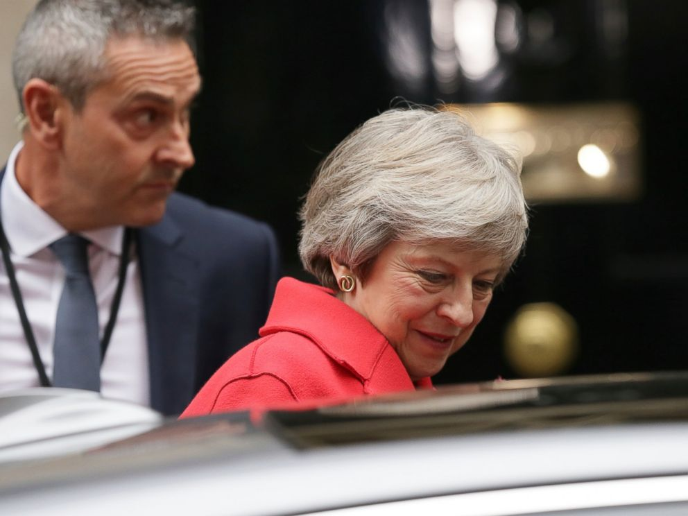 PHOTO: Britains Prime Minister Theresa May leaves 10 Downing Street for the Houses of Parliament, in London, Thursday Nov. 15, 2018.