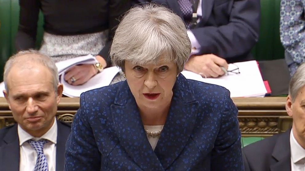 Theresa May calls out mansplaining in Parliament
