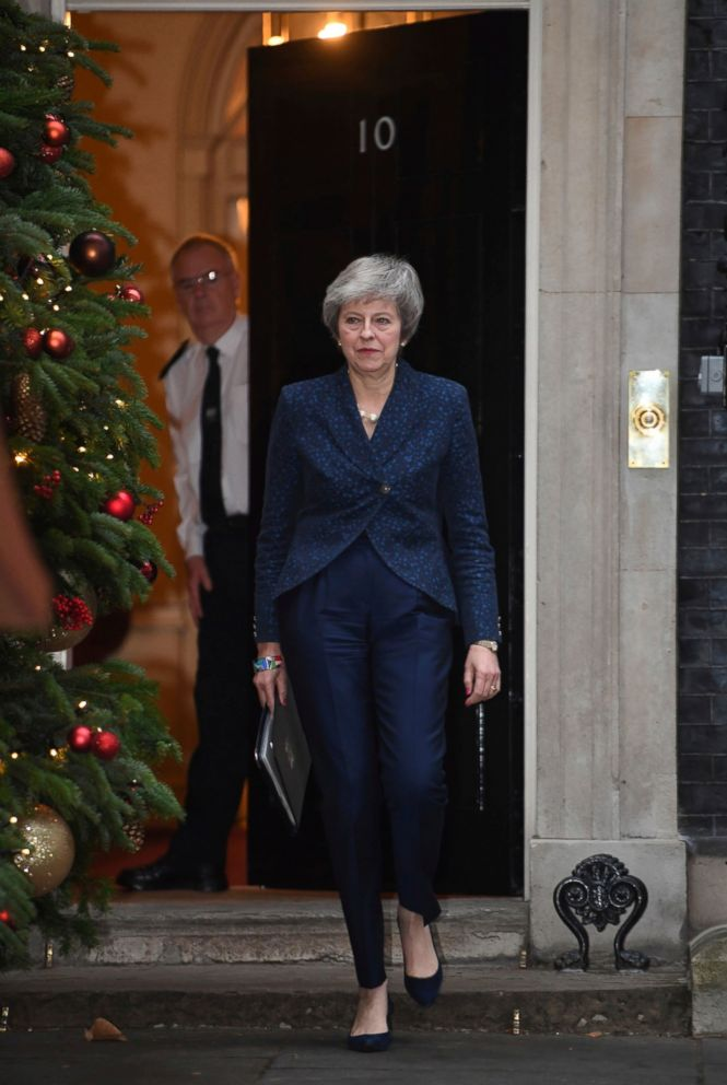 PHOTO: Britans PRIME ial Teresa May MAKE a media Statement in  Street, Lodnon, confirming  will be a Voting of OverConfidence in her  of the Conservativism Partiedly, Wendesday Dec. 12, 2018.