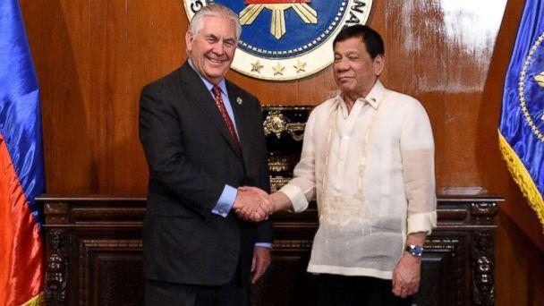 Duterte dismisses human rights concerns after meeting Tillerson