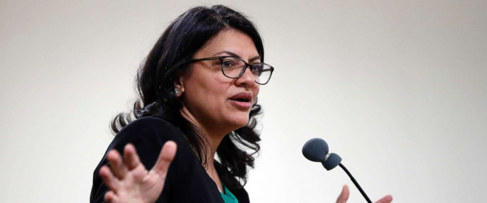 PHOTO: Rashida Tlaib, Democratic candidate for Michigans 13th Congressional District, speaks at a rally in Dearborn, Mich., Oct. 26, 2018.