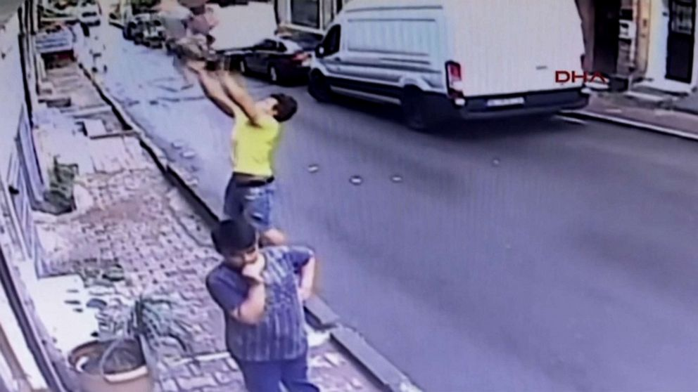 PHOTO: Feuzi Zabaat caught a two-year-old falling from a window in Istanbul.