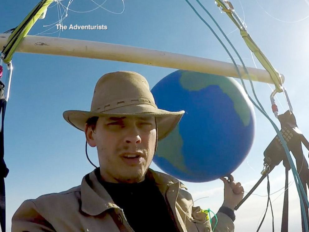 PHOTO: Adventurist Tom Morgan, 38, next hopes to launch a three-day, long distance race flying with the balloons.