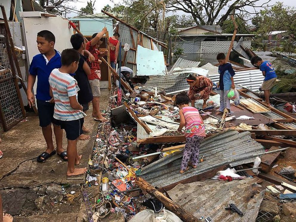 PHOTO: Residents of Nukualofa awoke to scenes of devastation on after cyclone Gita hit the island, Feb. 13, 2018.