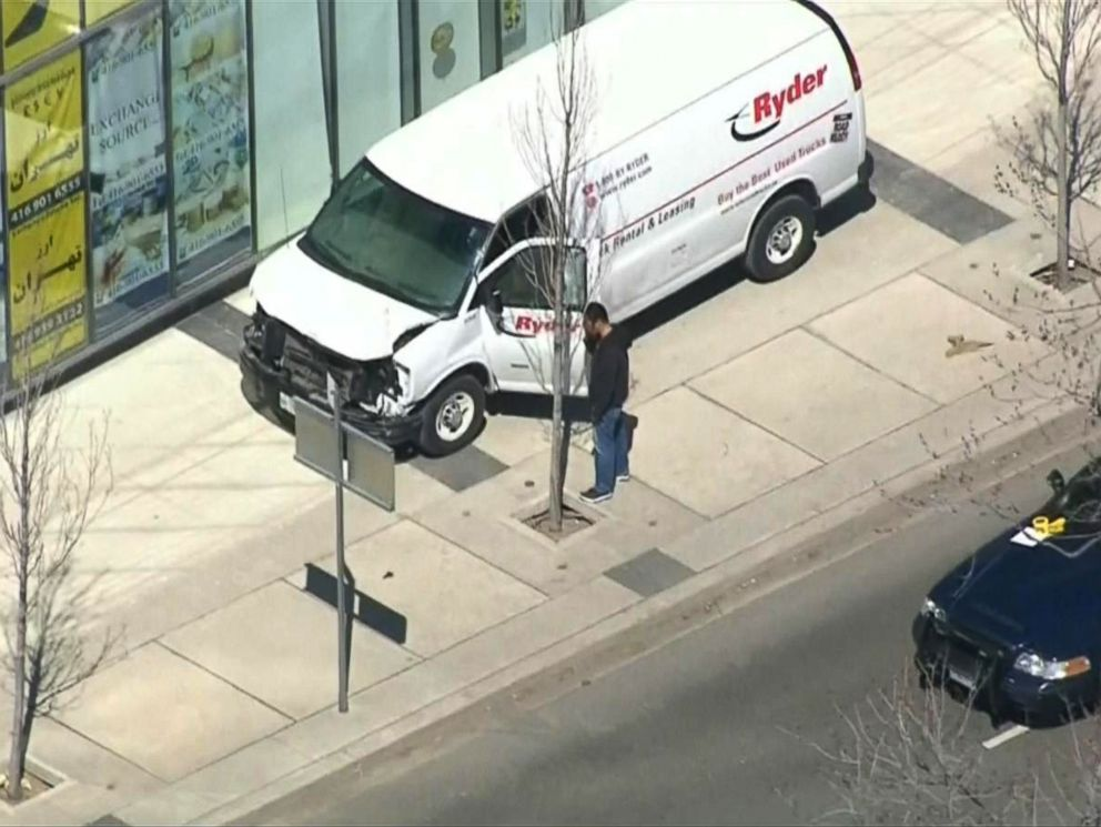 PHOTO: According to eyewitnesses, a white van hit pedestrians in Toronto, Canada, April 23, 2018, CTV reported.
