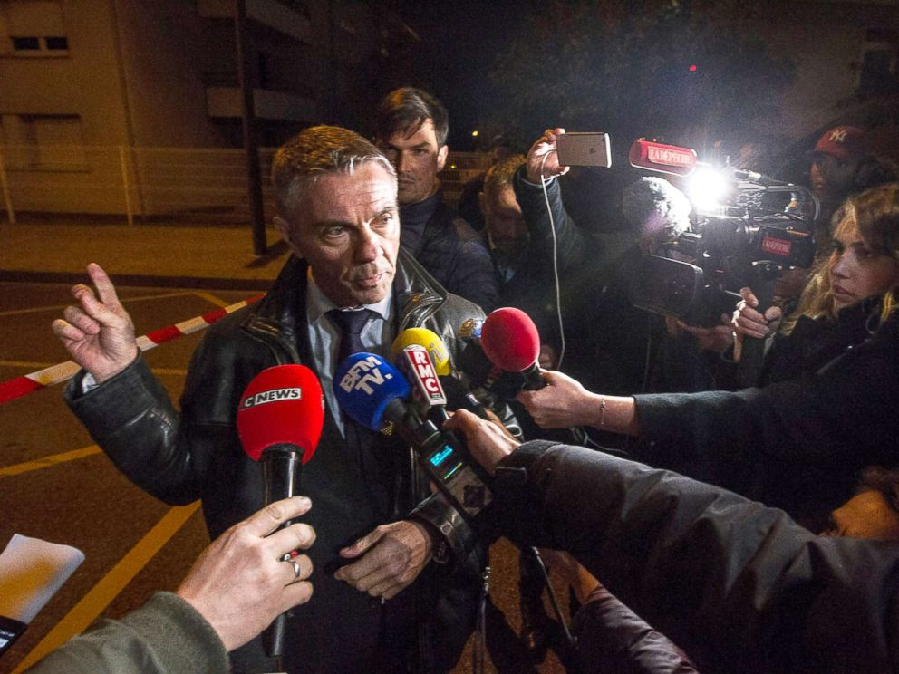 PHOTO: French prosecutor Pierre Yves Couilleau speaks to media during a press briefing near the IGS campus near Toulouse, France, Nov. 10, 2017.