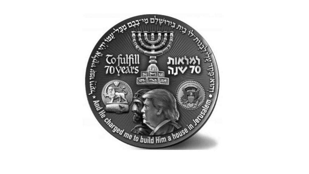Israeli group sells special-edition Trump coin
