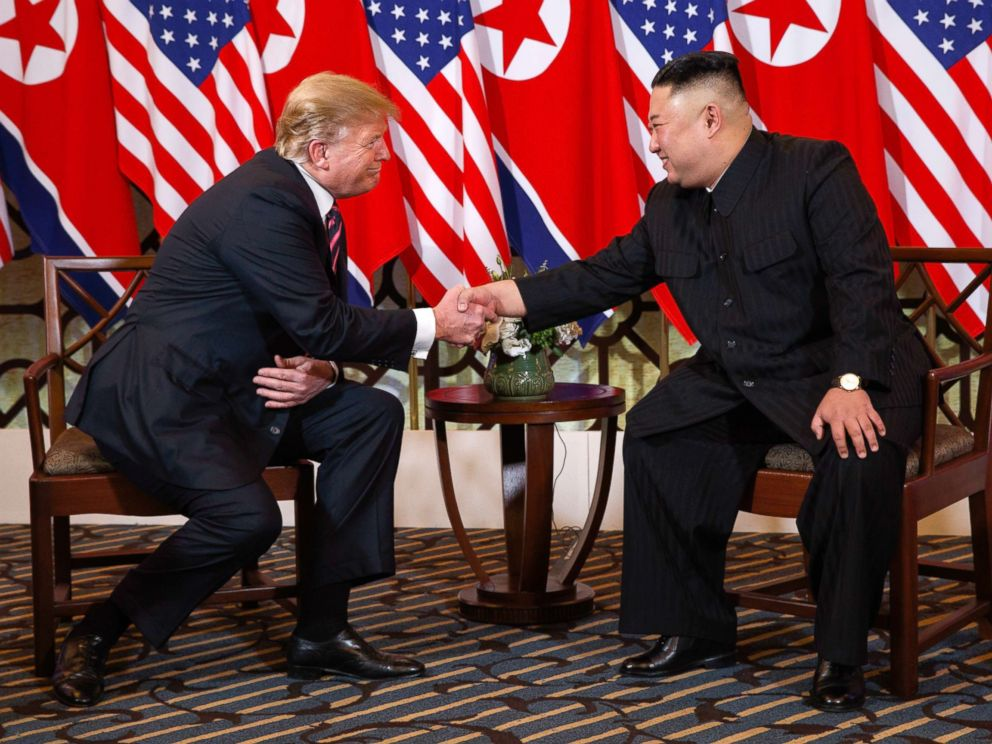 PHOTO: President Donald Trump meets North Korean leader Kim Jong Un, Feb. 27, 2019, in Hanoi.