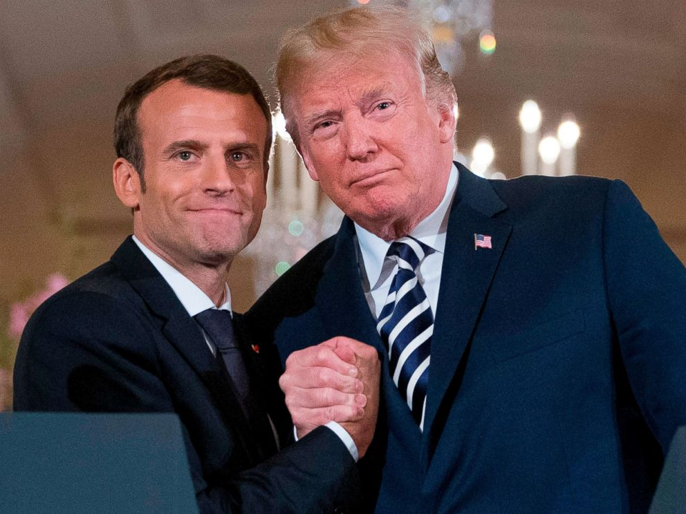 France's president flatters Trump, but fails to persuade him: Experts