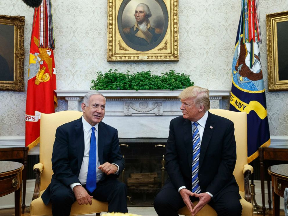 PHOTO: President Donald Trump meets with Israeli Prime Minister Benjamin Netanyahu in the Oval Office of the White House on March 5, 2018, in Washington, D.C.