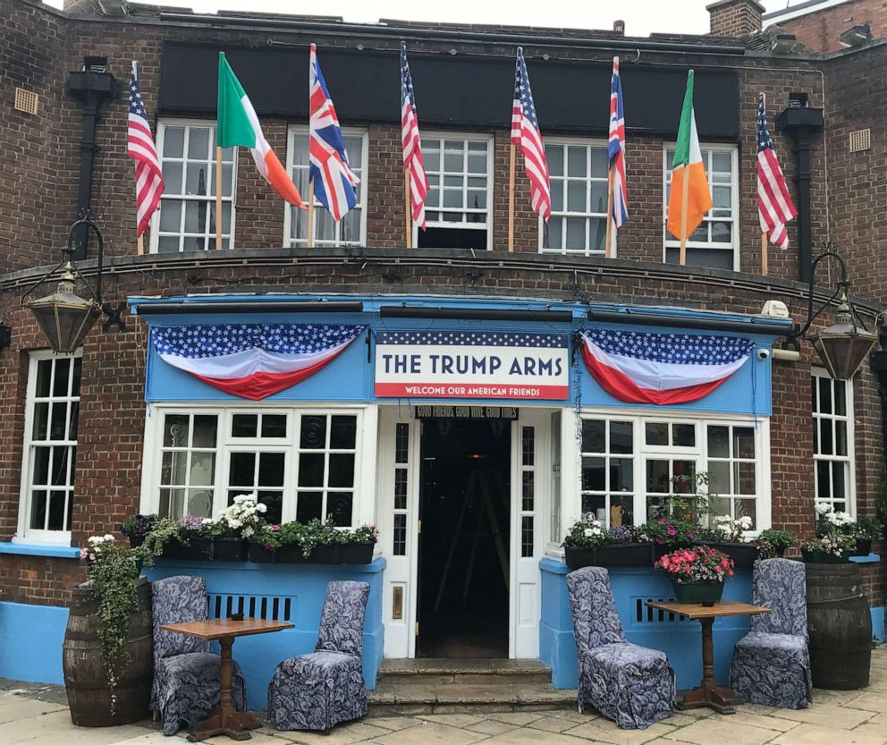 PHOTO: The newly renamed pub, The Trump Arms, in London.