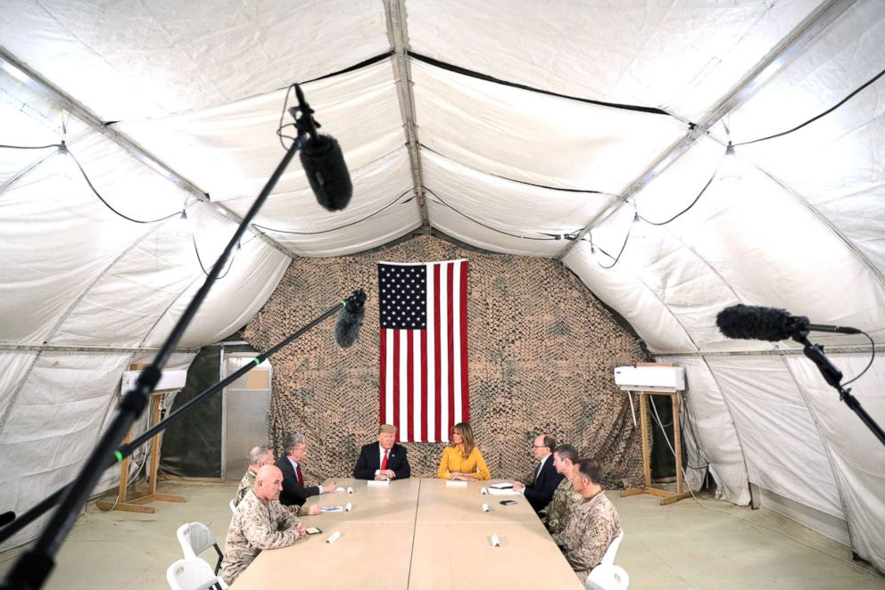 Trump, Visiting Troops in Iraq, Makes False Claims About Raising Military Pay