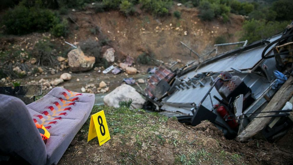 Dozens killed after bus plunges off cliff in Tunisia thumbnail