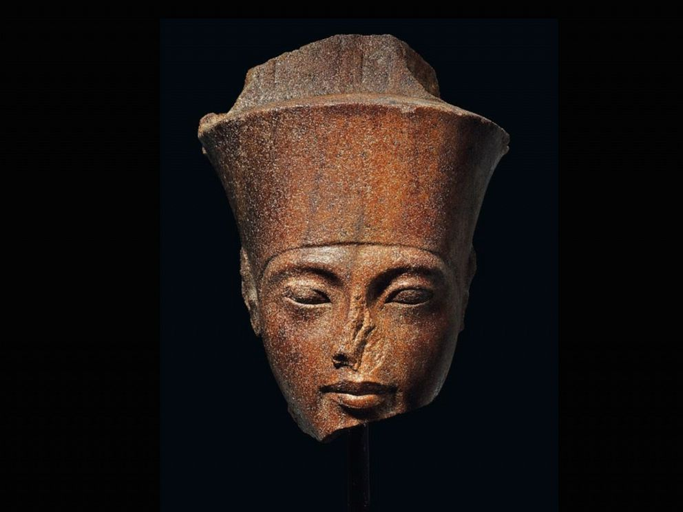 PHOTO: An Egyptian head of the God Amen with the features of the Pharaoh Tutankhamen. circa 1333-1323 B.C., is up for auction at Christies.