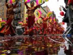 PHOTO: People take part in the Chinese Lunar New Year parade in Chinatown on Feb. 25, 2018, in New York.