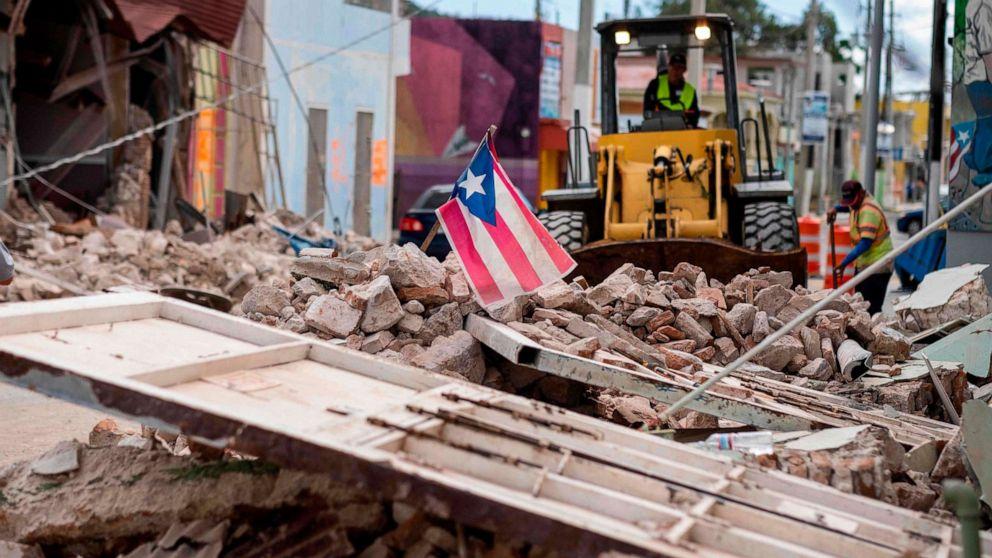 6.0 Erdbeben der Stärke Felsen Puerto Rico