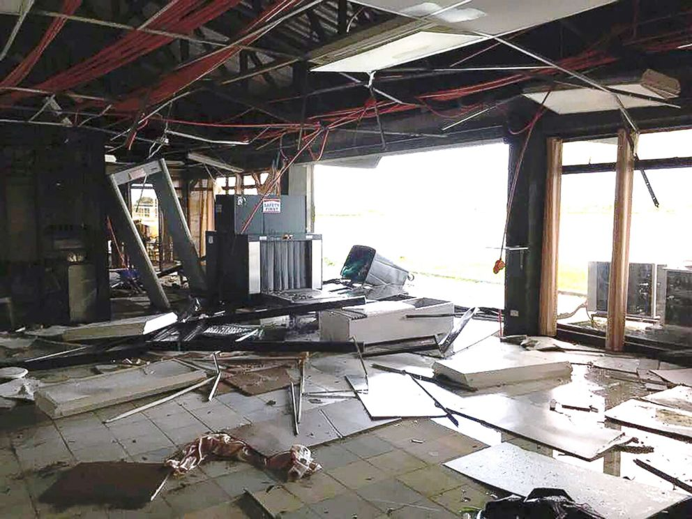 PHOTO: Tuguegarao Airport is damaged due to Typhoon Mangkhut, Tuguegarao City, Philippines, on Sept. 15, 2018, in this image obtained from social media.