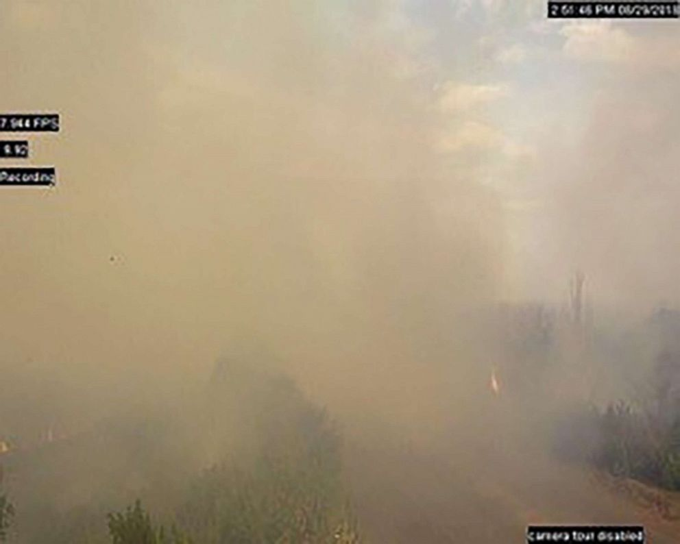 PHOTO: Summer wildfires provoked landmine detonation in Berezove,Eastern Ukraine.