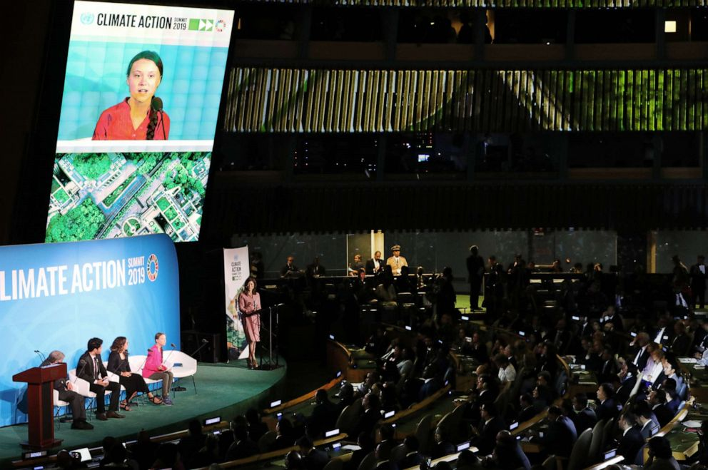 PHOTO: Greta Thunberg speaks at the United Nations (UN) Climate Action Summit on Sept. 23, 2019 in New York City.