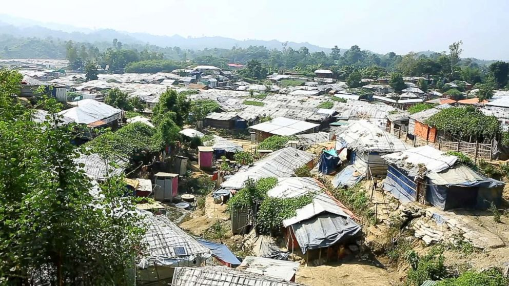 PHOTO: The Unchiprang refugee camp in Coxs Bazar, Bangladesh, seen in Nov. 2018, houses thousands of Rohingya refugees.