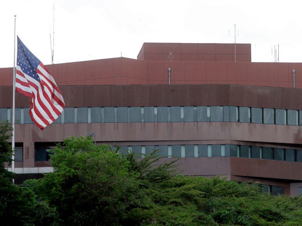 PHOTO: The U.S. embassy in Caracas, Venezuela.