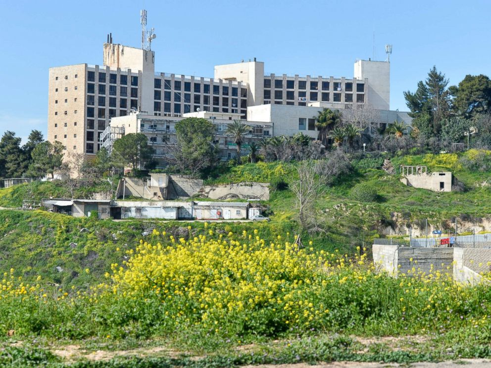 PHOTO: A general view of the former Diplomat Hotel, now part of the U.S. consular compound in Arnona area of Jerusalem, built on disputed territory, March 13, 2018, in Jerusalem.