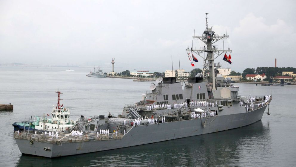 U.S. Navy guided-missile destroyer USS Benfold (DDG 65) arrives at a port, Aug. 8, 2016, in Qingdao, China. USS Benfold is on a 5-day visit to Qingdao.
