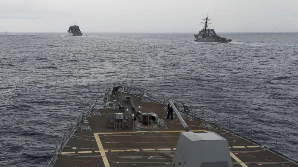 US Navy ship sails past Chinese-claimed reef in South China Sea thumbnail