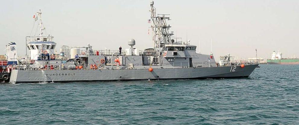 PHOTO: The coastal patrol ship USS Thunderbolt (PC 12) transits from Khalifa Bin Salman Port to Mina Salman Pier.