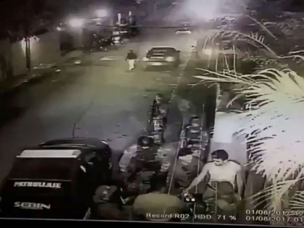 PHOTO: A still image taken from a social media video is said to show the moment in which opposition leader Leopoldo Lopez is led into a vehicle marked with Sebin, Venezuelas intelligence agency, in Caracas, Venezuela, Aug. 1, 2017.