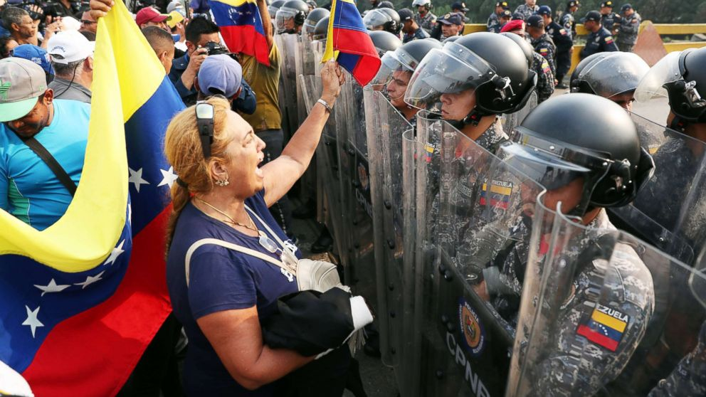Violent protests at Venezuela's borders