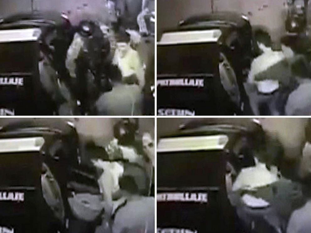 PHOTO: A video-grab combo obtained through Twitter by Lilian Tintori, wife of opposition leader Leopoldo Lopez, allegedly shows the moment of the arrest of Leopoldo Lopez, who remained under house arrest in Caracas, Venezuela, Aug. 1, 2017.