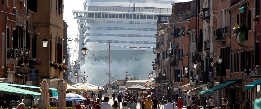 PHOTO: The MSC Divina cruise ship is seen in Venice lagoon, Italy, June 16, 2012, in this file photo.
