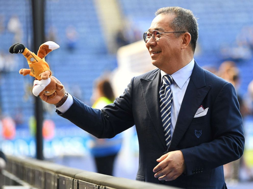 PHOTO: Leicester owner Vichai Srivaddhanaprabha during the Premier League match between Leicester City and West Ham United at The King Power Stadium in this May 5, 2018 file photo in Leicester, England.