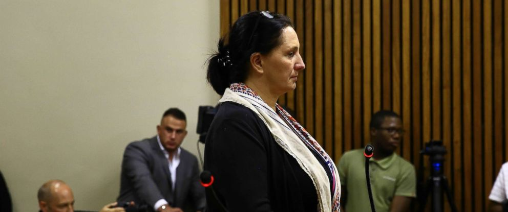 PHOTO: Vicki Momberg stands during sentencing at the Randburg Magistrates Court, March 28, 2018 in Randburg, South Africa.