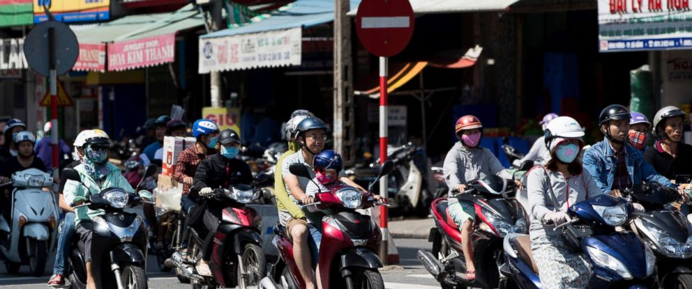 PHOTO: Motorcyclists travel along a road in Da Nang, Vietnam in this Nov. 11, 2017 file photo.