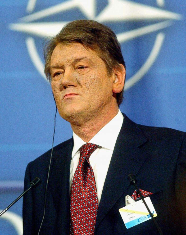 PHOTO: Ukrainian Prime Minister Viktor Yushchenko speaks at the Nato summit, Feb. 22, 2005 in Brussels, Belgium.