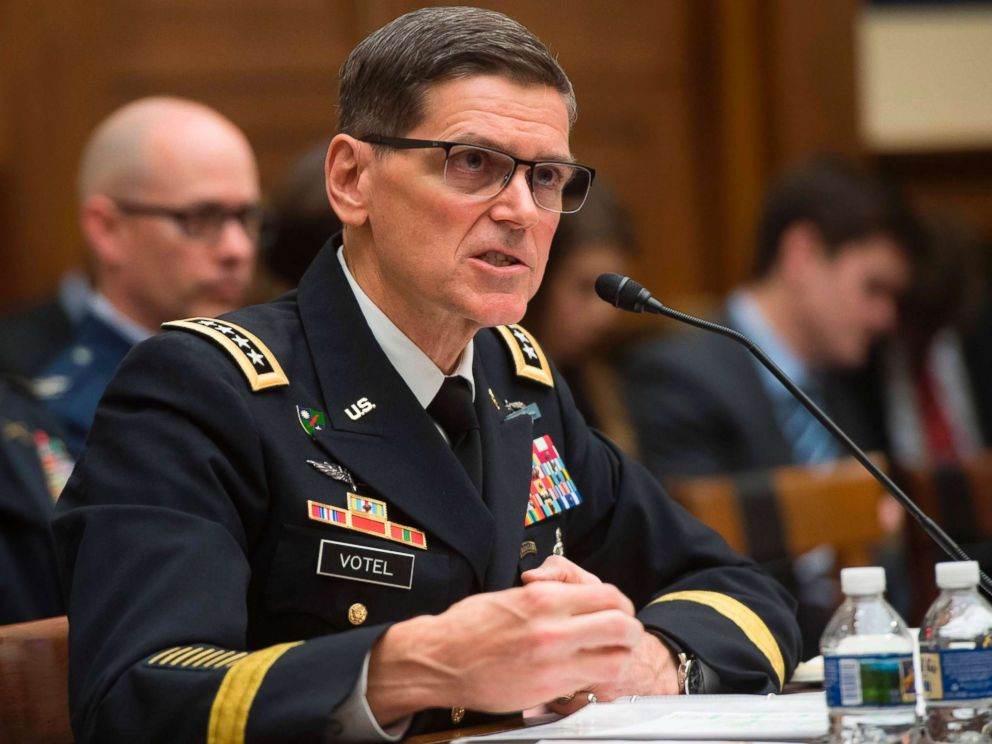 PHOTO: Army General Joseph Votel, commander of the US Central Command, testifies during a House Armed Services Committee hearing on Capitol Hill, Feb. 27, 2018.