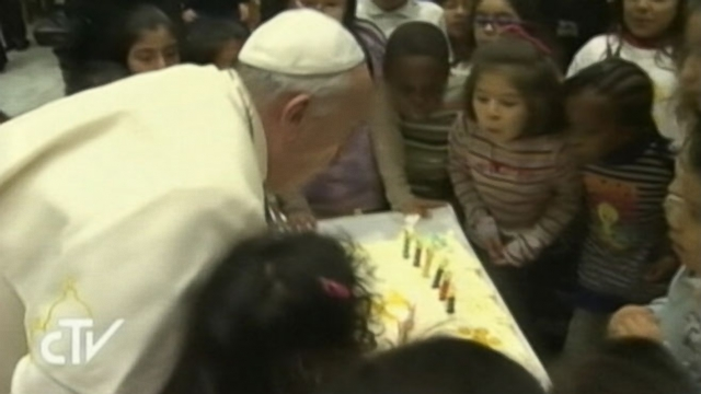 Pope Celebrates 77th Birthday With the Homeless, Including a Dog