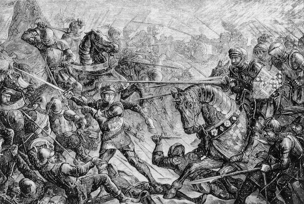 PHOTO: The Battle of Towton during the War of the Roses, 1461.
