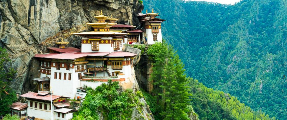 PHOTO:Paro Taktsang, better known as Tigers Nest, is perhaps the most famous site in all of Bhutan. This cliffside temple is home to many monks, and considered to be a very sacred Buddhist site.