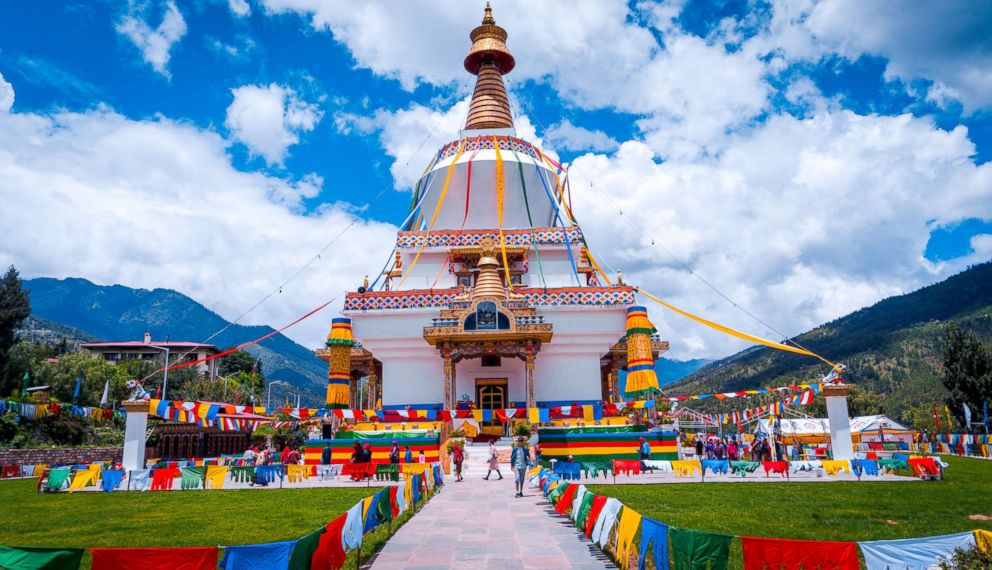 PHOTO: The National Memorial Chorten was built in 1974 for the third king, Jigme Dorji Wangchuck. For many residents of Thimpu, a visit to this Stupa is an everyday occurrence.