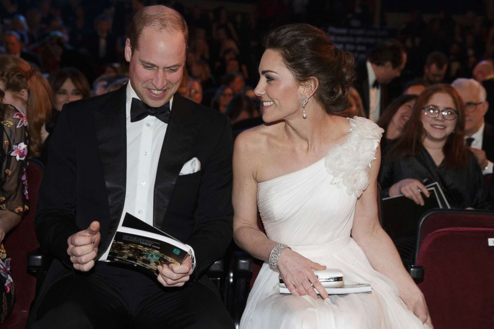 Prince William and Kate, Duchess of Cambridge arrive for the BAFTA 2019 Awards at The Royal Albert Hall in London, Feb. 10, 2019.