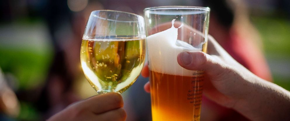 PHOTO: Wine and beer in a stock photo.