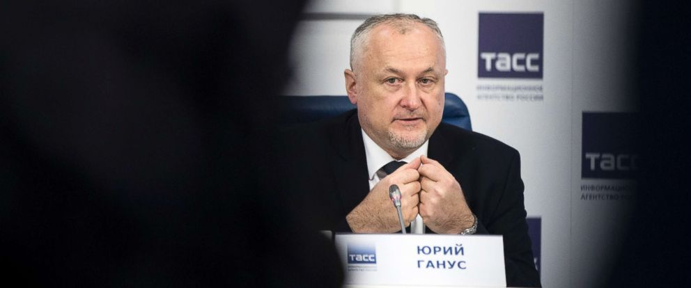 "PHOTO: Russian National Anti-doping Agency RUSADA head Yuri Ganus speaks during a news conference in Moscow, Nov. 16, 2017, saying his agency has reformed to WADA standards to be ""completely independent."""