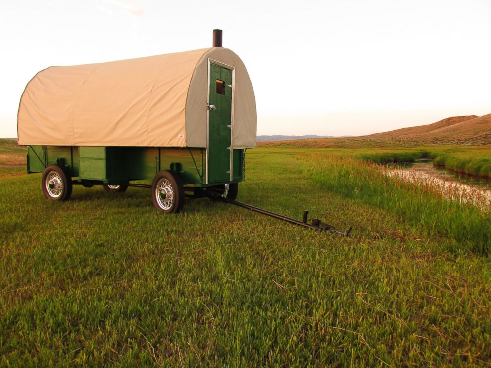 PHOTO: Spend the night in a restored 1920s sheep wagon in Shirley Basin, Wyo.