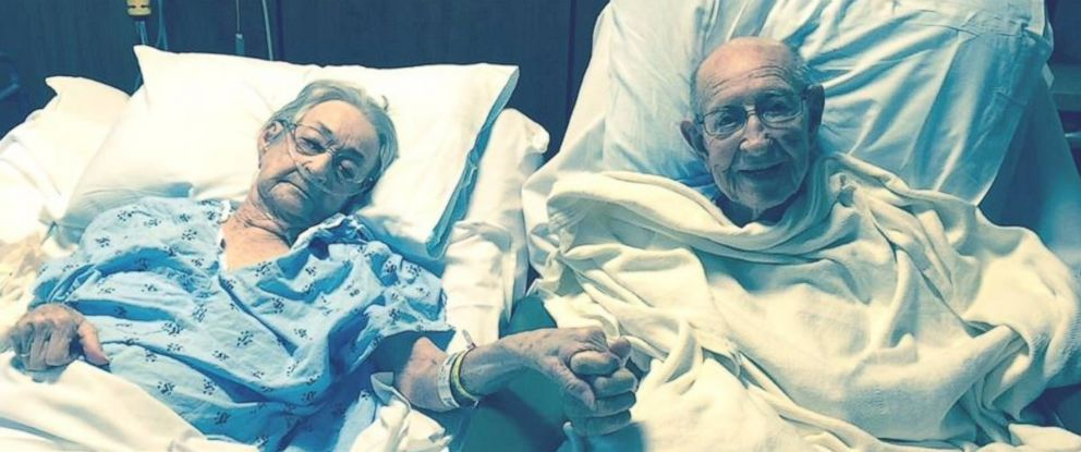 PHOTO: Hospital's Touching Gesture for Couple Married 68 Years Goes Viral