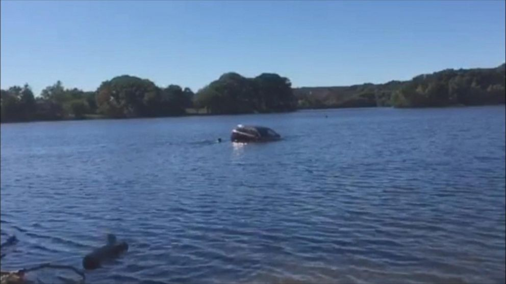 VIDEO: Bystanders Rescue Elderly Woman Who Drove Into Pond